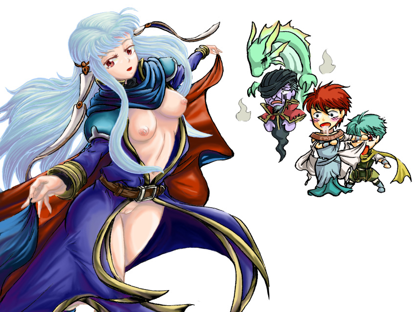 roy fire lilina x emblem Meera the gentle synx monster